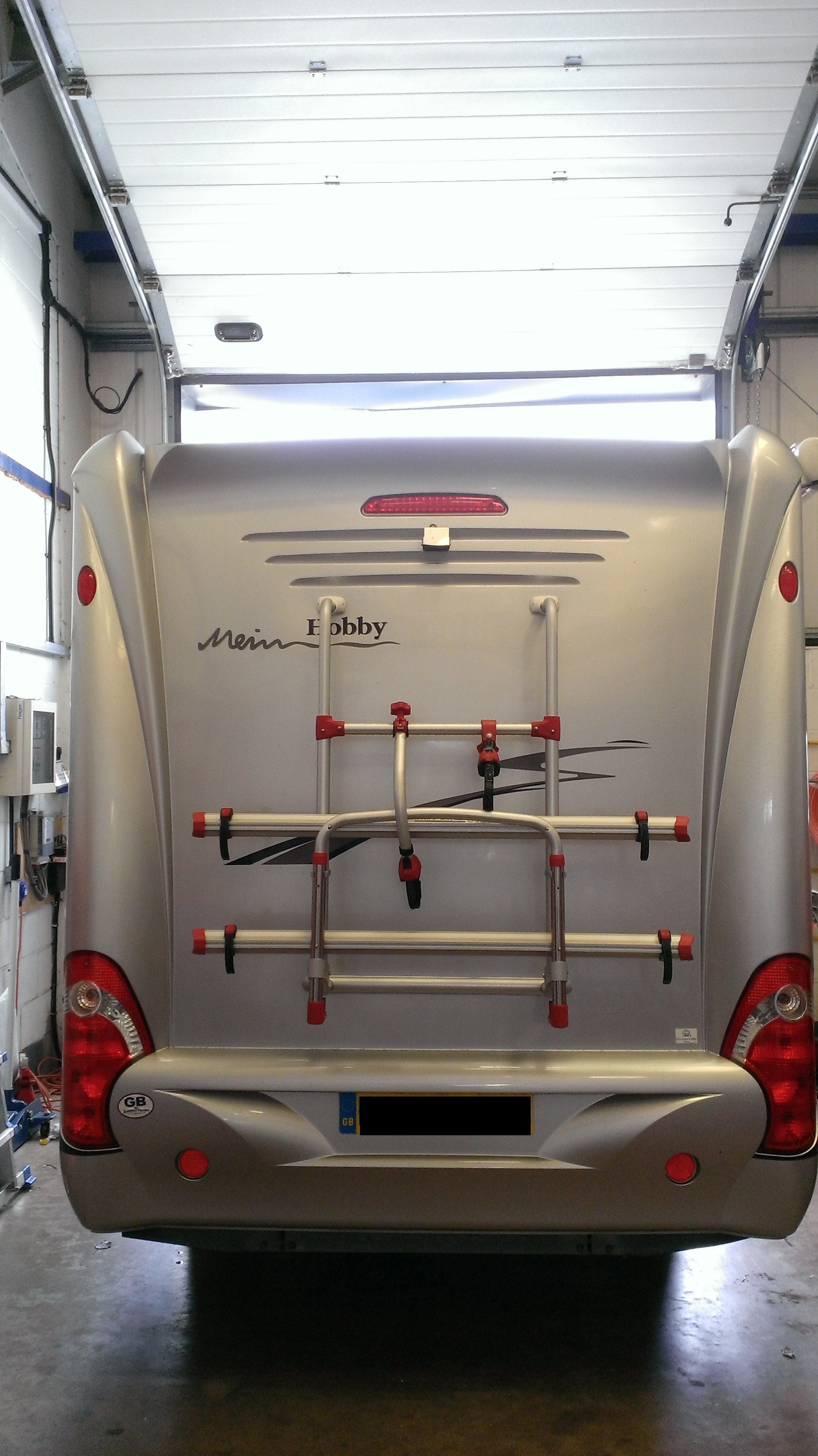 hobby motorhome fiamma cycle rack