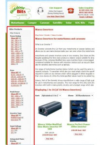 motorhome product filters for inverters