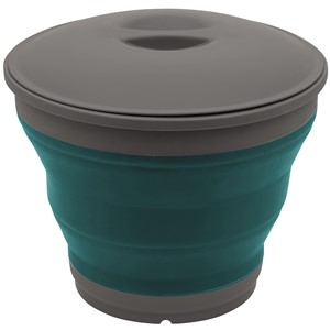 Collaps Bucket With Lid Deep Blue