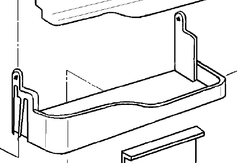 Dometic lower section shelf