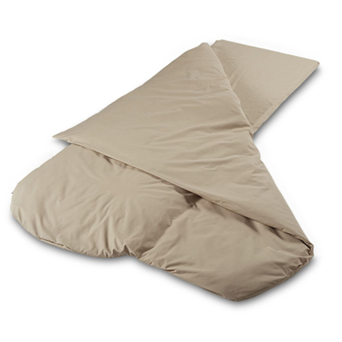 2.5cm Duvalay Compact Sleeping Bag 66cm Summer 4.5 Tog Cappucino