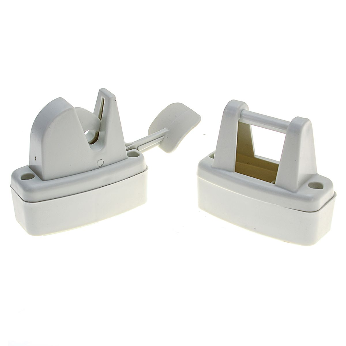 Lever Release Door Retainer Off White