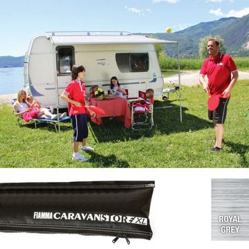 Fiamma Black Caravanstore XL Awning Royal Grey 360cm