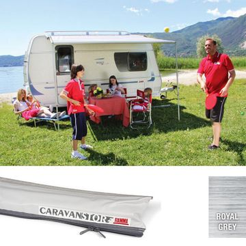 Fiamma Caravanstore XL Awning Royal Grey 550cm *NEW LENGTH*