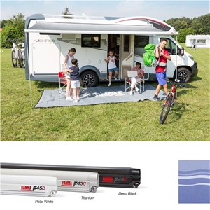 Fiamma F45S 350 Awning Titanium Royal Blue