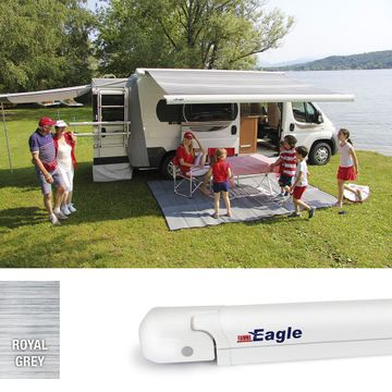 Fiamma F65 Eagle Awning 4m Polar White - Royal Grey