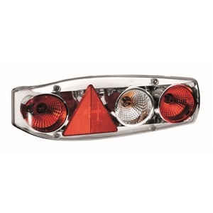 Hella Caraluna II Chrome LH Caravan Cluster Lamp With Fog Light