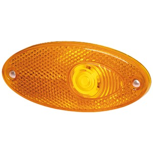 Hella Side Marker Light - Amber - With Reflector