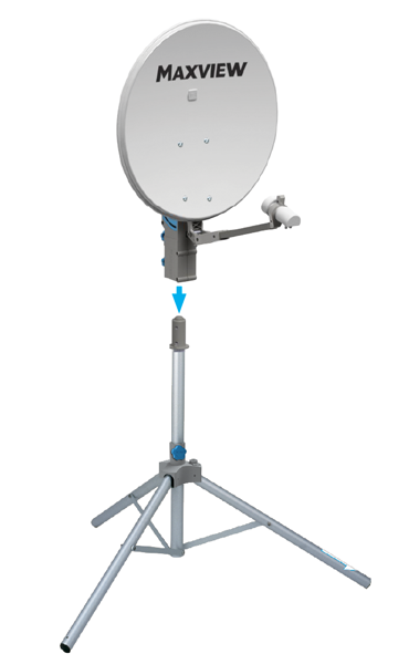 Maxview Precision 75cm Twin LNB Satellite System