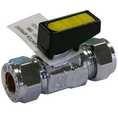 Mini LPG Ball Valve 10mm Compression Fitting