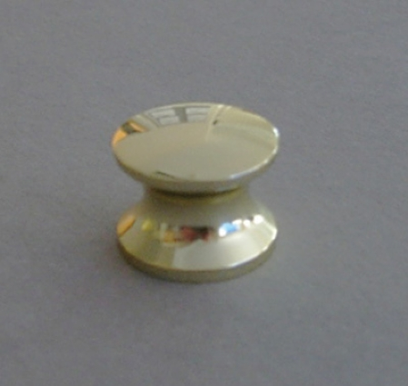 Push Lock Knob 19mm Polished Brass Effect