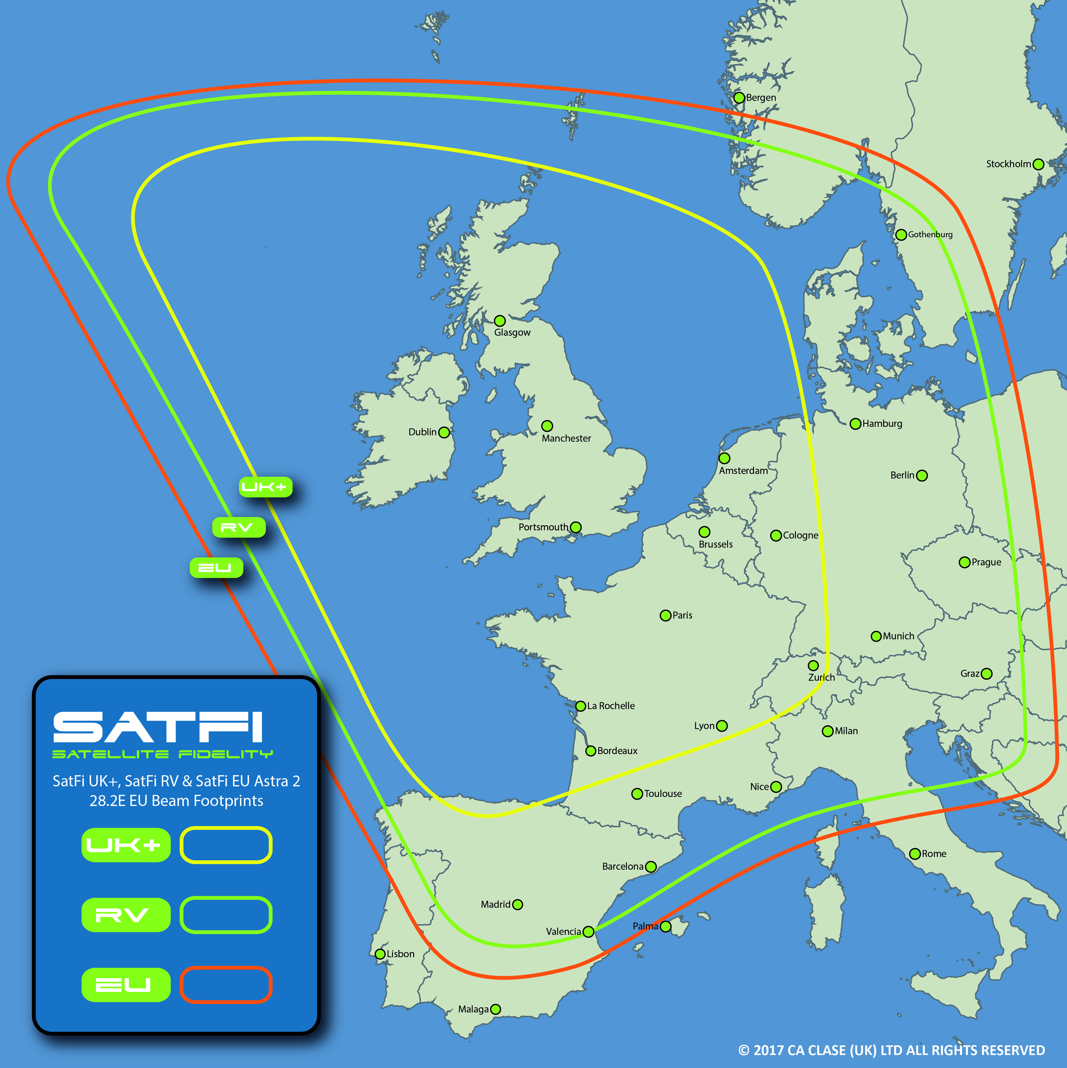 SatFi UK+ Satellite Dome