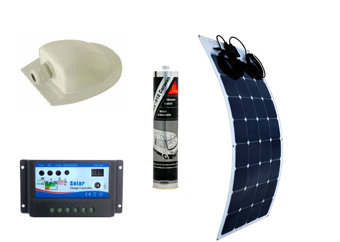 Professionally Fitted Stellar Solar 100W Semi-Flexible Solar Panel Kit