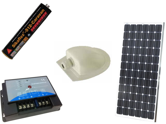 Professionally Fitted Stellar Solar 150W MPPT Solar Panel Kit - Wired to Both Batteries