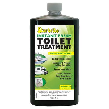 Star Brite Toilet Treatment Cleaner - Biodegradeable Pine Scent - Instant Fresh