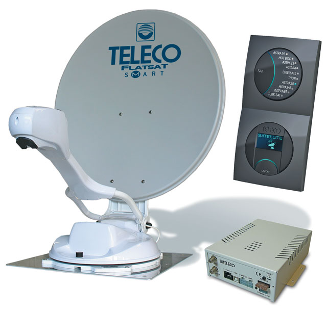 Teleco FlatSat Easy SMART 65cm Twin LNB Satellite System