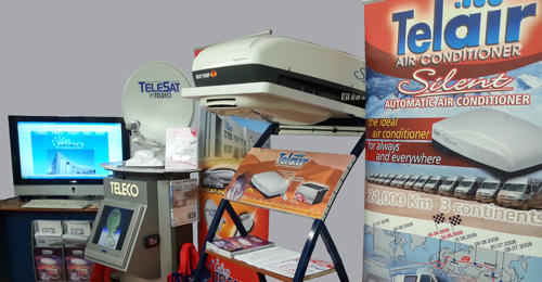 Teleco and Telair Display at the Outdoor Bits Showroom Devon
