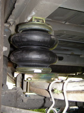 Side close in view of airide air suspension for motorhomes air bag