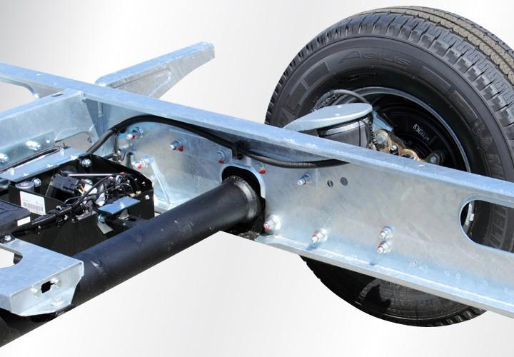 Torsion bar suspension as used in Alko