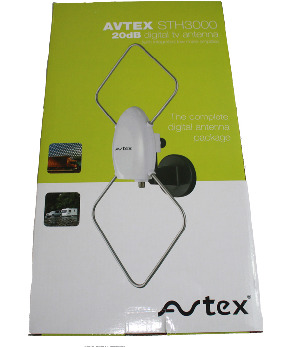 Avtex STH3000 Suction Mount Digital TV Aerial