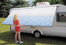 The Fiamma Caravanstore rolls out from your caravan to create an awning.