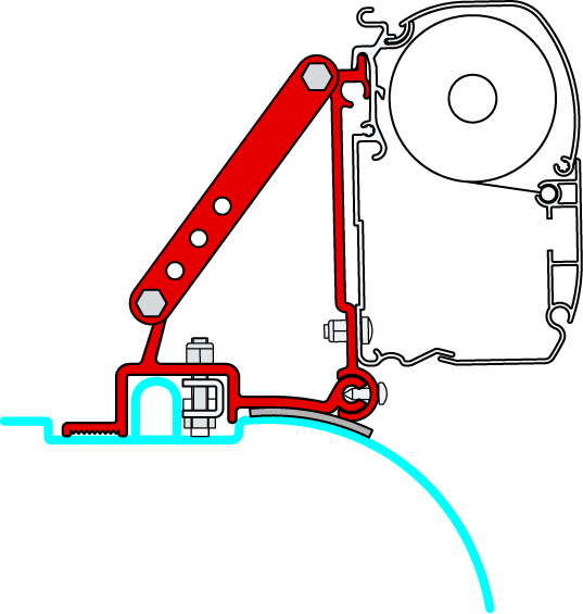 Fiamma Awning Bracket Kit Ducato/Jumper/Boxer Highroof Before 06