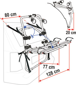 Fiamma 4X4 backpack cycle rack schematic