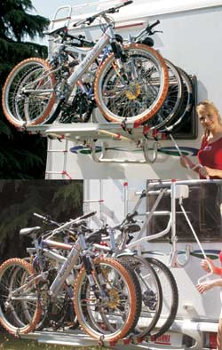 Fiamma Lift77 Cycle rack in use