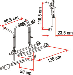 Mercedes Viano cycle rack schematic