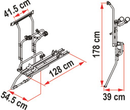 Renault Trafic cycle rack schematic