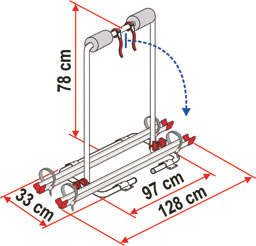 Caravan Cycle Rack XL A Schematic