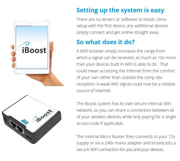 Motorhome Wifi iBoost Connect