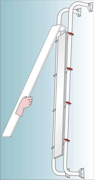 Fiamma Safe Ladder Affixing to motorhome
