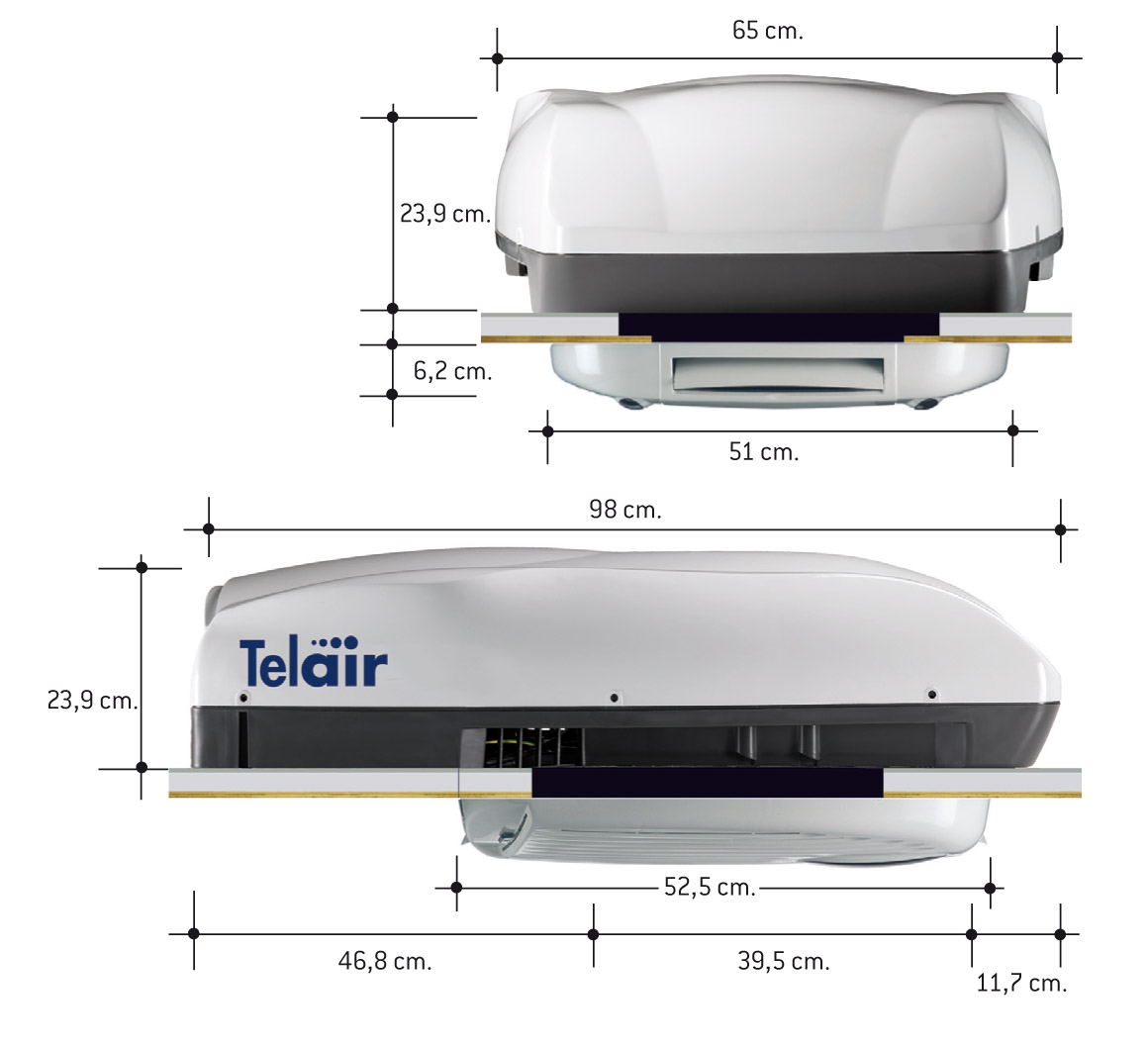 Telair Silent 8400H Motorhome Air Conditioning System