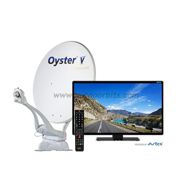 "Oyster V Premium 24"" TV 85cm Vision AutoSkew Single LNB Satellite System"